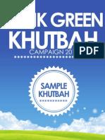 Think Green Khutbah April 20 2012 FINAL