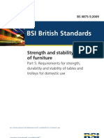 BS 4875-5 2009 Strength and Stability of Furniture