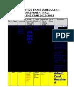 Competitive Exam Scheduler