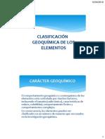 3. Clasificacion geoquimica