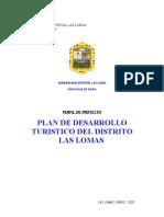 Plan de Desarrollo Turistico Del Distrito Las Lomas