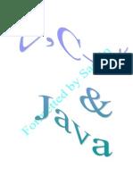 C,C++ & Java