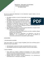 ATOS ADMINISTRATIVOS - PARTE GERAL E ATOS EM ESPÉCIE
