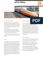 High Speed Rail Case Study