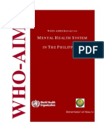 WHO Mental Health System in the Philippines