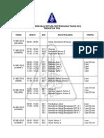 Jadual Peperiksaan Setara Pertengahan Tahun T3 Negeri Johor 2012