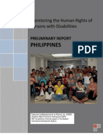 Monitoring Human Rights of PWDs Philippines, 2009