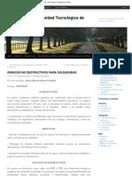 ENSAYOS NO DESTRUCTIVOS PARA SOLDADURAS _ Metalografía - Universidad Tecnoló