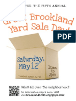 Great Brookland Yard Sale 2012 Announcement Flyer Color