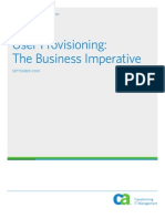 User Provisioning- Business Imperatives