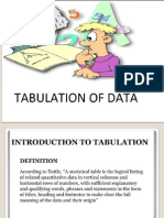 Tabulation of Data