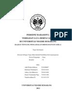 Persepsi Mahasiswa Terhadap Gaya Berpacaran Di Universitas Negeri Semarang