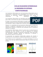 Aplicaciones de Las Ecuaciones Diferenciales Para La Ingenieria en Sistemas Computacionales