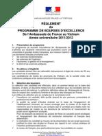 Bourses d Excellence 2011