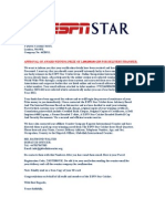 Espn Prize Approved