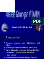 09. Analisis Golongan VITAMIN