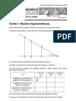 Ficha trigonometria - Tarefas DGIDC