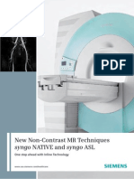 MRI Hot Topic Syngo NATIVE and Syngo ASL