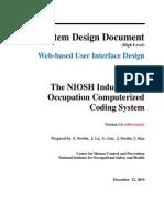 NIOCCS Design PartA1 Web Based User Interface V1-4 Abbreviated