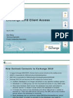 Exchange 2010 Deployment and Transitions MMCUG 9232011