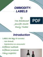 Label Presentation - No Pictures
