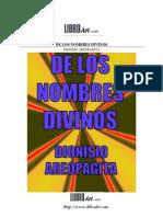 De Los Nombres Divinos, (Pseudo) Dionisio de Areopagita