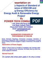 9 Regulatory Aspects of Standard of Performance of DISCOM and Increasing Energy Efficiency by Energy Audit & Renewable Energy Project