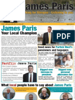 James Paris Election Leaflet - April 17th 2012