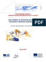 Job creation in business services