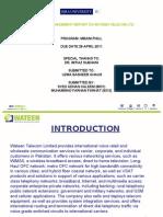 Strategic Management Presentation on Wateen Telecom Ltd