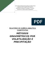 Relatório de analítica - Gravimetria por volatilização