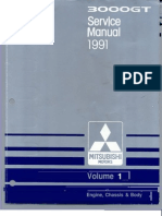 Service Manual 3000GT 1991 Volume 1
