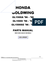 Honda Goldwing GL1500 1996 to 1998 Honda Parts Manual-55E90