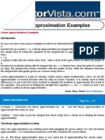 Linear Approximation Examples