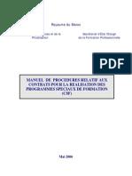 MdP_CSF_Version_Mai_2006 (contrats spéciaux de formation)