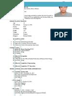 Sample Resume For Ojt Student Information Technology