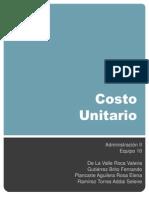 Costo Unitario