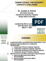 Leadership Ethics and the Integrity Capacity Challenge