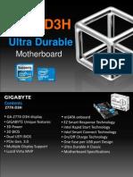 Gigabyte GA-Z77X-D3H Motherboard