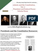 PC 2 Federal Power-Essay-American Presidency-Student Program