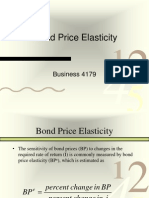 Bond Price Elasticity and Duration