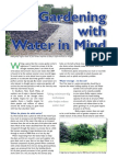Gardening With Water in Mind