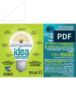 Idea Contest - Fostering Innovation Through Community Project
