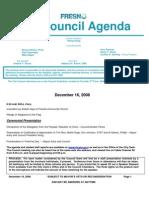 December 16, 2008 Council Agenda