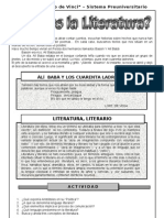 1. ABRIL – LITERATURA – 2DO  AÑO