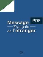 Message Aux Francais de l Etranger