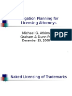 Litigation Planning for Licensing Attorneys CLE Presentation