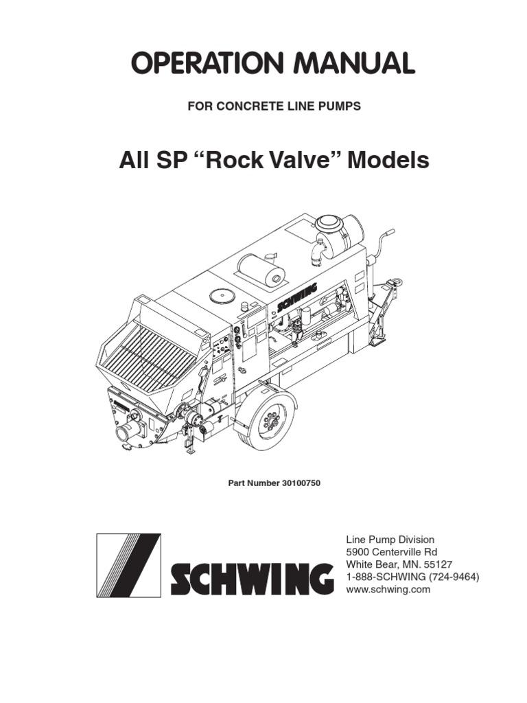 Schwing Sp 500 English   Pump   Valve