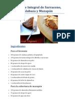 Brownie Integral de Sarraceno Calabaza y Mazapan