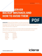 Top SQL Server Backup Mistakes